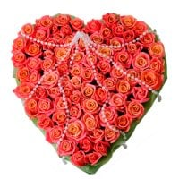 Bouquet Angel  heart 75 roses