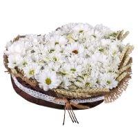 Купить красивый букет «Снежное сердце» с доставкой в любой город