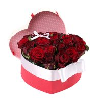 Букет Серце з троянд в коробці Київ