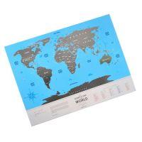 Скретч карта мира путешественника - оригинальный подарок