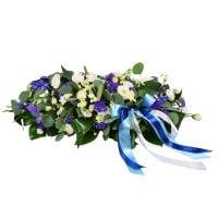 Заказать композицию на свадебный стол «Сине-белое облако». Доставка!