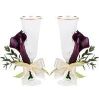 Букет Свадебные бокалы с каллами