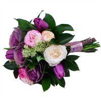 Купить «Розово-фиолетовый» букет невесты