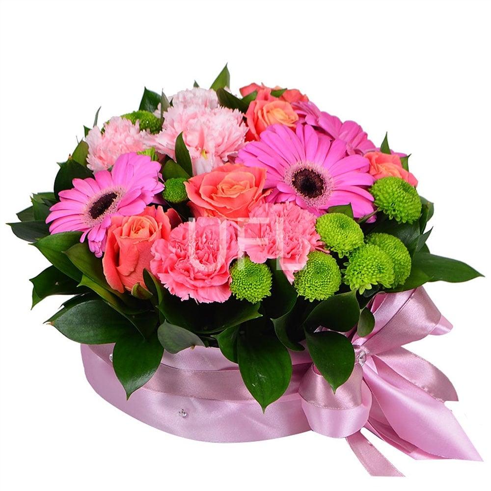 Цветы букет в губке, цветов