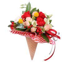 Букет Цветочный рожок Киев