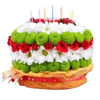 Букет в виде торта,  «Цветочный торт», оригинальные букеты в виде тортов