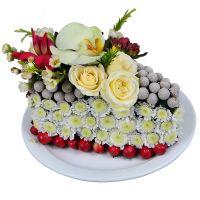 Букет Квітковий тортик Київ