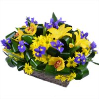 Bouquet Blue and Yellow