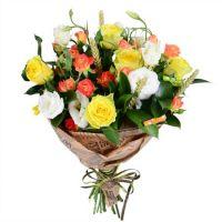 Букет «Николетта», букет учителю, букет с желтыми розами