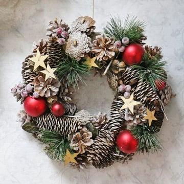 Різдвяний вінок з шишками Київ