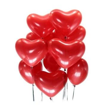 15 красных шаров сердце Киев