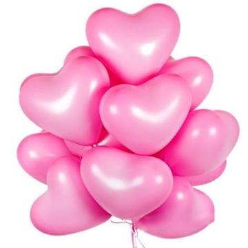 15 розовых шаров сердце Киев
