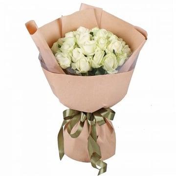 25 белых роз  Кокомо