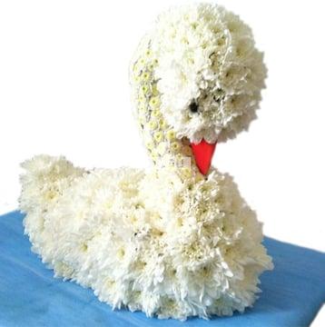 Цветочная игрушка - Белый лебедь Киев