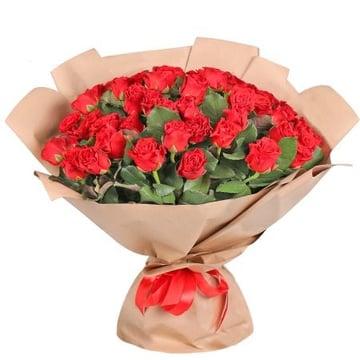 51 красная роза Брест (Беларусь)