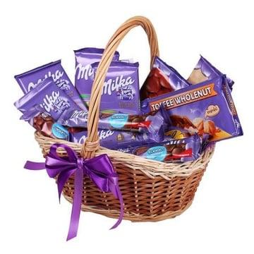 Milka-корзина шоколада Поморье
