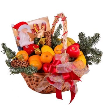 New Year Basket - Fruit and Sweets Kiev