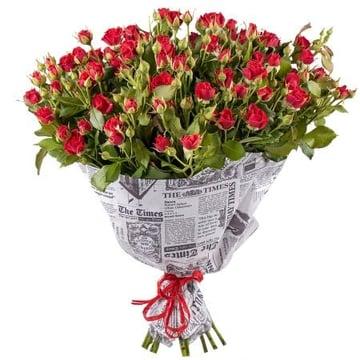 Азарт 17 кустовых роз Киев
