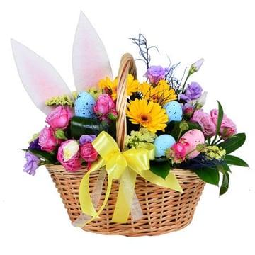 Пасхальная цветочная корзинка Киев