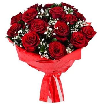 Розы + гипсофила Хинтербрюль