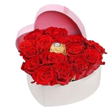 Сердце из 15 роз Эль Торо Киев