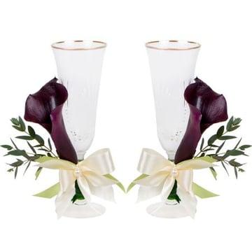 Свадебные бокалы с каллами Киев