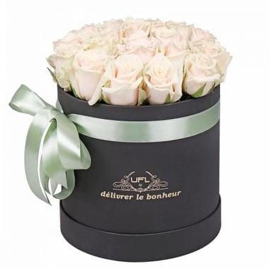 Кремовые розы в коробке 21 шт Бердянск