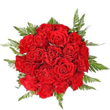 Красные розы в коробке Буфало Груф