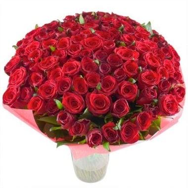 101 алая роза 60 см Федоровский