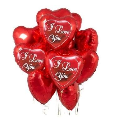 15 красных шариков сердце Киев