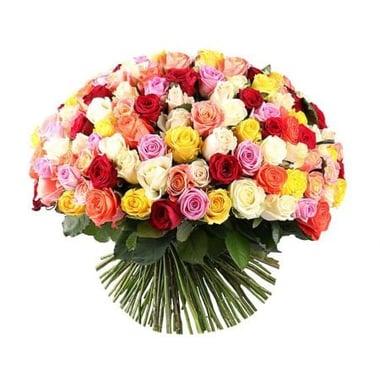 175 разноцветных роз Киев
