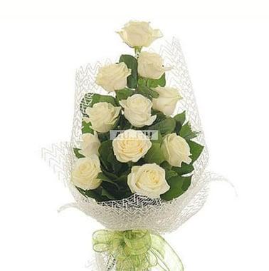 Букет из белых роз - Белая ночь Киев