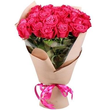 25 малиновых роз Георгиевск