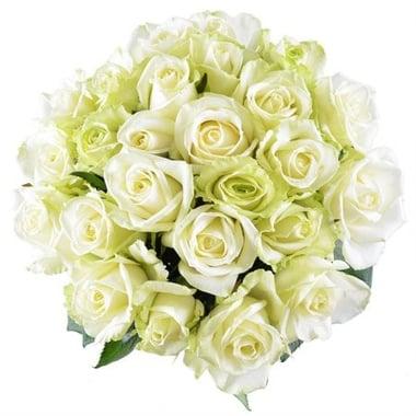 Бриллиант - Бизнес букет - Розы белые 25 шт Георгиевск