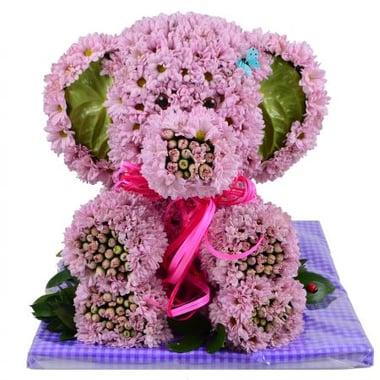 Игрушка из цветов - Розовый слон Киев