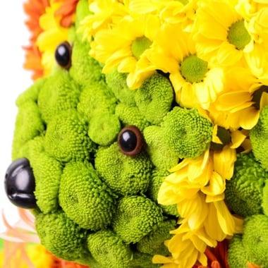 Игрушка из цветов - Щенок Киев