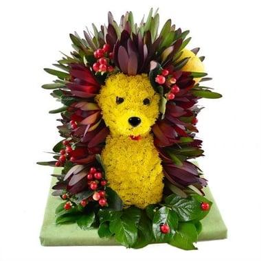 Игрушка из цветов - Ежик Киев