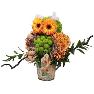 Игрушка из цветов - Тетушка сова Киев