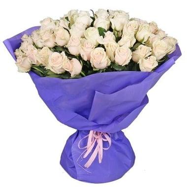 51 кремовая роза Излучинск