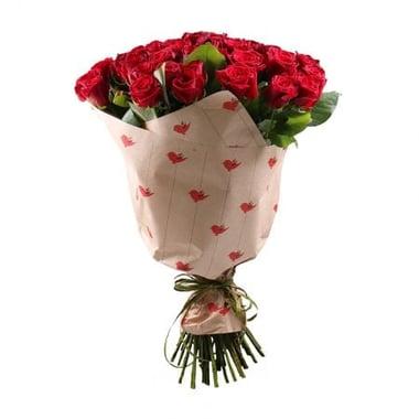 Букет 51 бордовая роза Киев