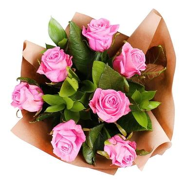 Букет 7 розовых роз Гадсден