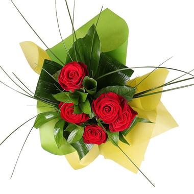 5 красных роз + Raffaello Киев
