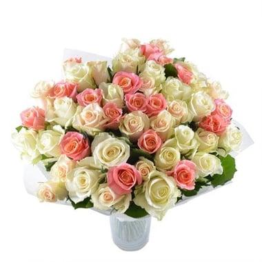 Нежный комплимент 51 роза Курган