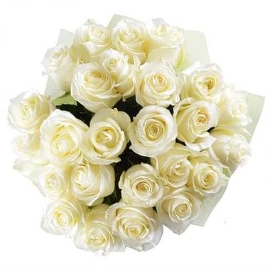 Белый шелк 25 роз signature Георгиевск