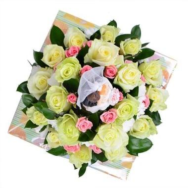 Свадебный цветочный торт Мурманск