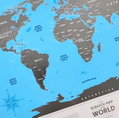 Скретч карта мира Киев
