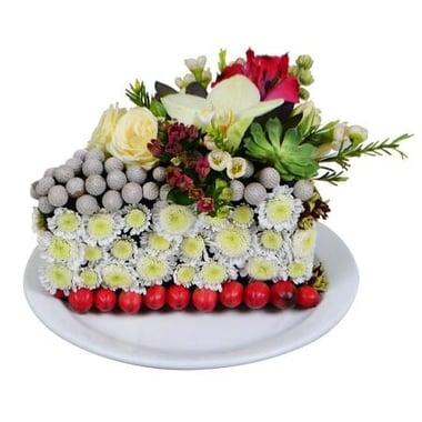 Цветочный тортик Киев