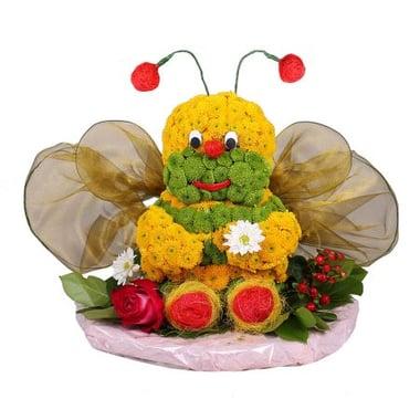 Игрушка из цветов - Пчелка Киев