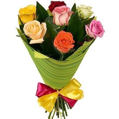 7 разноцветных роз Шанхай