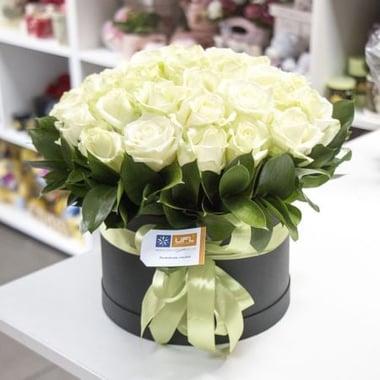 Белые розы Воздушный крем Мурманск